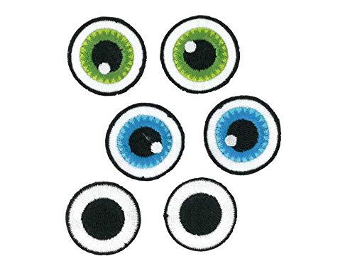 Kleiber Bügelbild Patch Applikation zum Aufbügeln Augen 2,8-3,0 cm