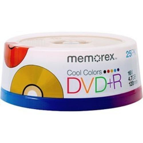 Imation Cool Colors DVD+R X 25 - 4.7 GB - Storage Media (CV1570) Category: DVD Media