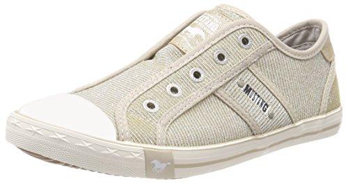 MUSTANG Damen 1099-407-480 Slip On Sneaker, Beige (Champagner), 40 EU