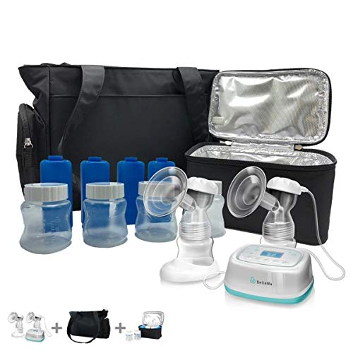 BelleMa Effective Pro Double Electric Breast Pump (Mom's Choice Award Winner), with IDC Technology (Value Bundle)