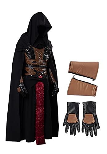 Fuman Darth Revan Kostüm Film Cosplay Schwarz Uniform-Set für Halloween Karneval Party