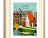 AZSTEEL Poster Lille Vintage 30x40cm-L'Islet Comtesse/Serie