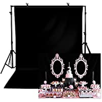 TOAOFY 5x7-Feet Professional Backdrop for Photography (Black)