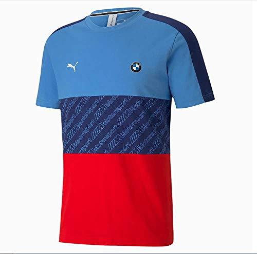 PUMA Herren BMW M Motorsport T7 T-Shirt, Marina-Blueprint-High Risk Red, S