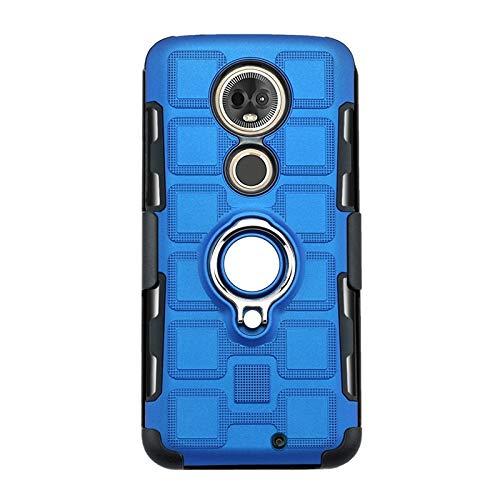 XIXV -Para Caso G7 Moto, 3-en-1 Armadura contraportada de 360 Grados de protección con el sostenedor del Anillo de G7 Moto Cubierta de teléfono (Color : Blue)