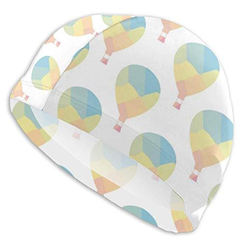 Opiadco Decopik Badekappen mit Polygon-Heißluftballons Bedrucken, Badehut für Männer Frauen