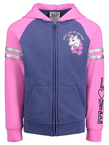 JoJo Siwa Girls Signature Bow Hoodie in Pink/Blue, 10/12