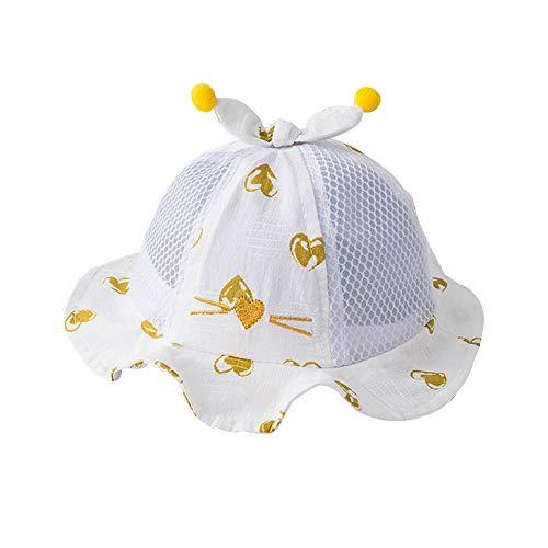HJDQ Transpirable Sun del Cubo Hat Sombrero Lindo de algodón con la Correa de Viajes Sun Protection Sombreros de Verano del Sombre para Chicos,
