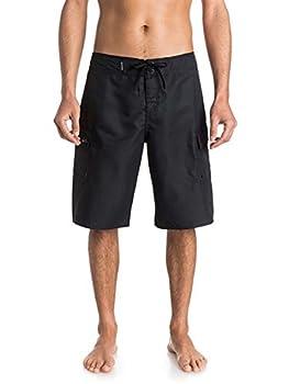 Quiksilver Men s Manic 22 Inch Length Cargo Pocket Boardshort Swim Trunk Black 2015 34