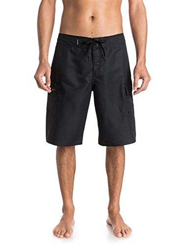 Quiksilver Men's Manic 22 Inch Length Cargo Pocket Boardshort Swim Trunk, Black 2015, 36