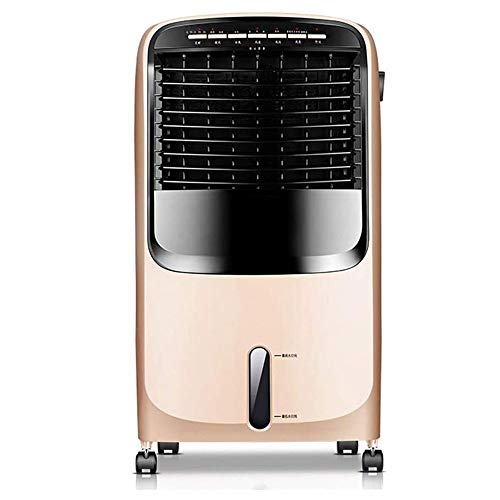 WJL Huishoudairconditioning afstandsbediening fan, beweegbare stille koeling mobiele airconditioning ventilator geruisloos Evaporative Mobile Air Conditioner met afstandsbediening voor kantoor champagne goud