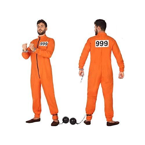Atosa-53978 Disfraz Preso, Color Naranja, XL (53978)