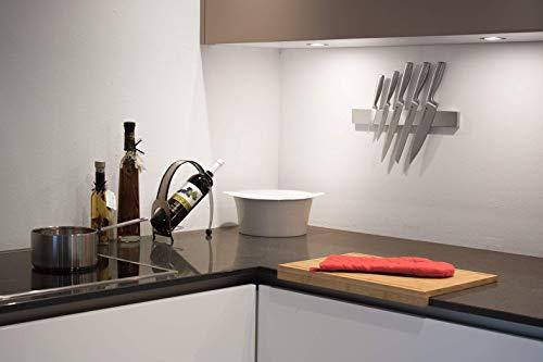 Edelstahl Messerhalter magnetisch/ Magnetleiste – 3 Jahre Garantie - 3