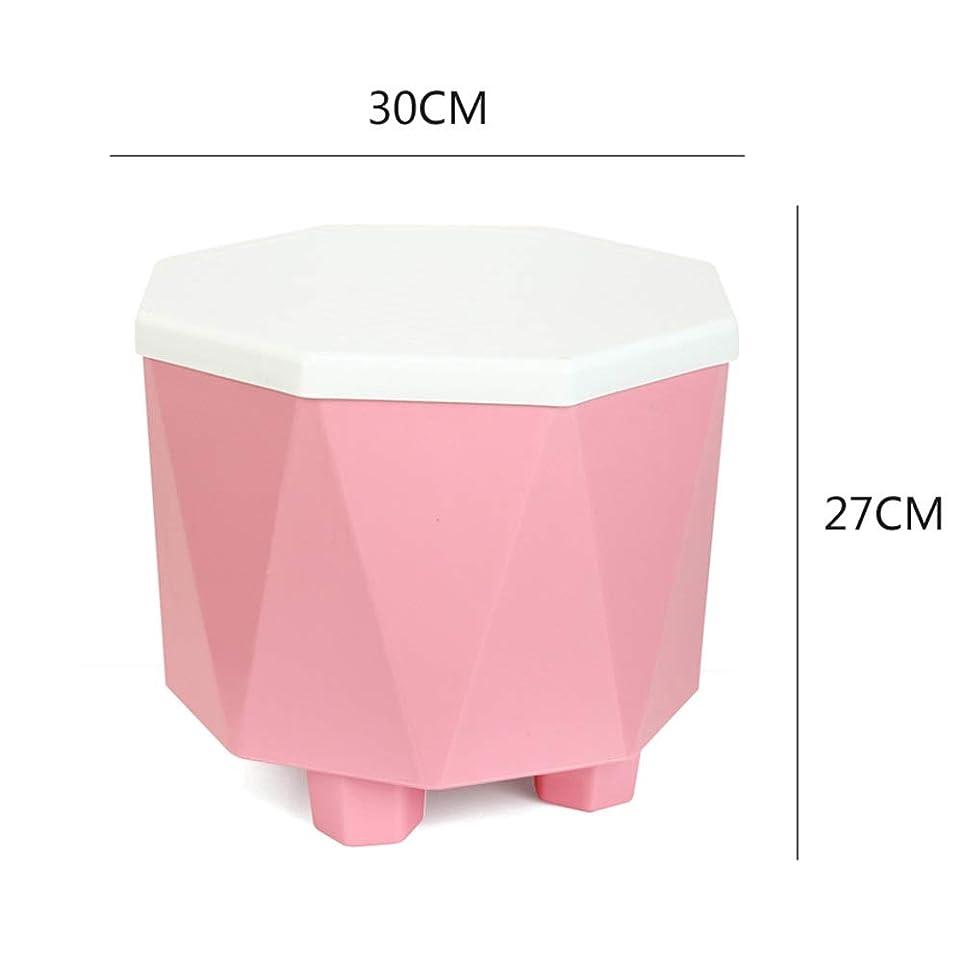 基礎しばしばソーシャルTINGTING-スツール, スーパーインスペーススペース節約の寝室のリビングルームホールの変更靴フットレスト収納 (色 : ピンク, サイズ さいず : 30*27cm)