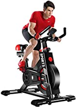Yoleo Exercise Bike (2020 Upgraded Version), Studio Quality, LCD Displays, Heart Rate Monitor, Large Bidirectional Flywhee...