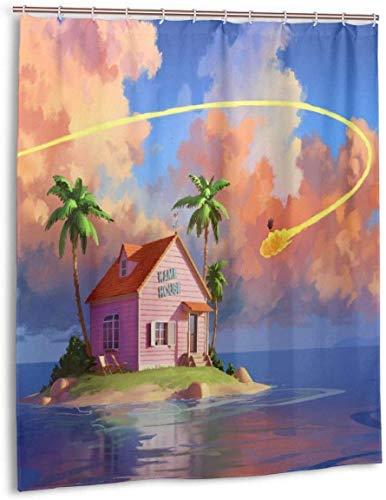 gshihuainingxianfuch Cartoon Dragon-Ball Duschvorhang Liner Wasserdichtes Polyestergewebe Duschvorhang Duschvorhang 12 Haken 60 X 72 Zoll
