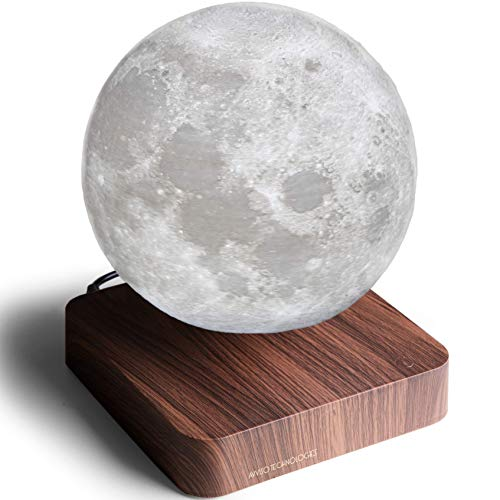 Levitating Moon Lamp - Floating and Spinning Moon Light Spinning in Air - Night Lamp for Office, Home, Room Decor