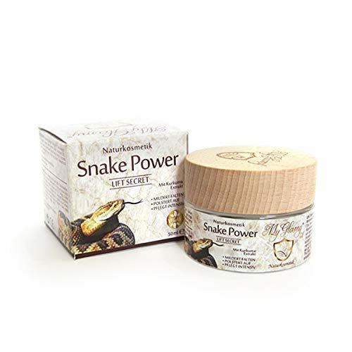MyGlamy Naturkosmetik Hyaluron Creme Snake Power LIFT Creme mit 7% Schlangengift + Kurkuma + Hyaluronsäure Elixir Anti Age Snake 50 ml