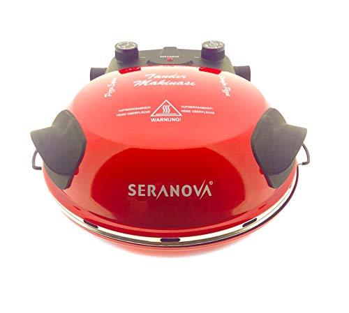Seranova Multifunktionsgerät Pizza Maker Elektrischer Grill-Pizzaofen Pizzapfanne