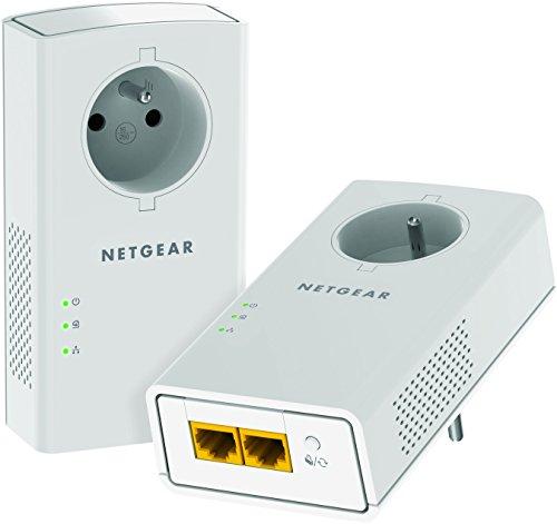 Netgear PLP2000-100FRS - Adaptador CPL Powerline 2000 + Salida Extra (2,000Mbps, 2...