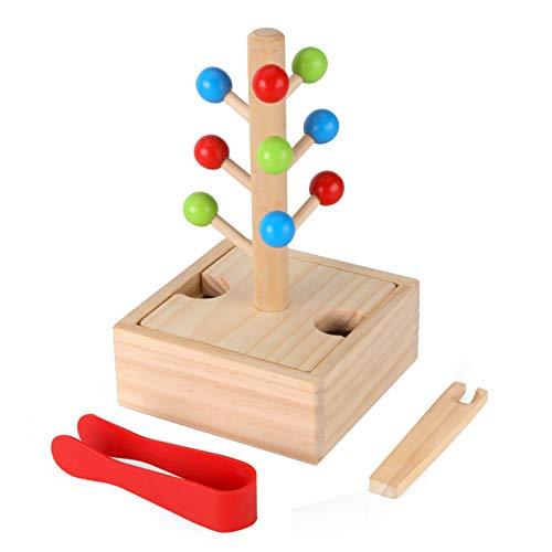 WFF Spielzeug Clip Baby Perlen Lernspielzeug Eltern-Kind-Interaktion zu pflegen Konzentration und Feinkinder Bewegungen Holzspielzeug (Color : 2pieces)