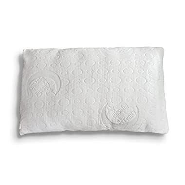 Best Bamboo Alternative Down Pillow - Soft Hypoallergenic Polyester - Memory Foam Liner - Machine Washable - Removable Cooling Cover- 100% SATISFACTION GUARANTEE (Queen)