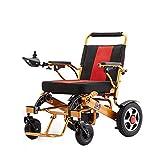QQLK La Silla de Ruedas Eléctrica Ligera Plegable - Deshabilitado ScooterDoble Motor, Duración de la Batería 12-15 km, Peso del Rodamiento 100 kg