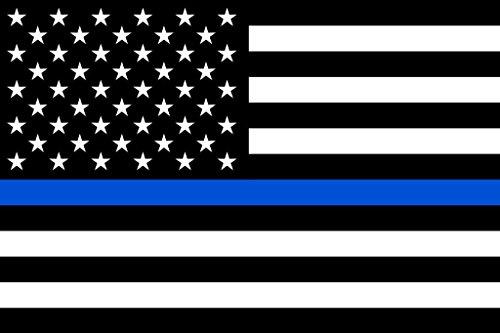 American Flag Police Memorial Cool Wall Decor Art Print Poster 24x36
