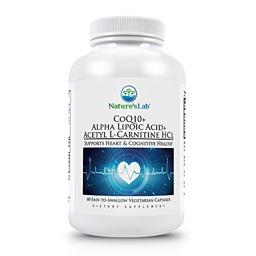 Nature's Lab CoQ10 + Alpha Lipoic Acid + Acetyl L-Carnitine HCl - Supports Heart and Cognitive Health - 60 Capsules (1 Month Supply)