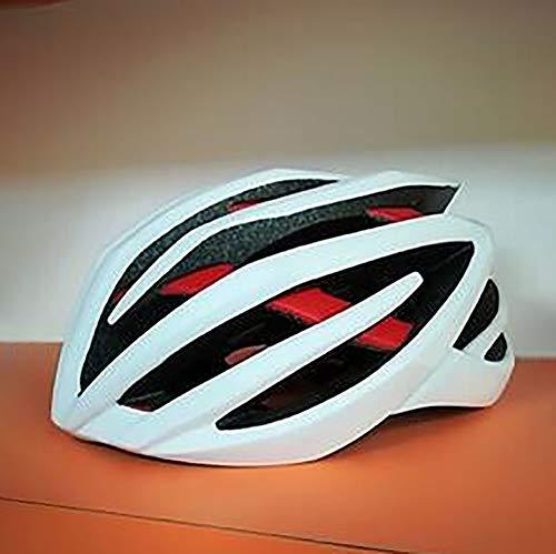 Stella Fella Cascos para hombre de una sola pieza Casco de bicicleta Casco de carretera Casco de equitación de seguridad transpirable para hombres y mujeres (Color: Blanco)