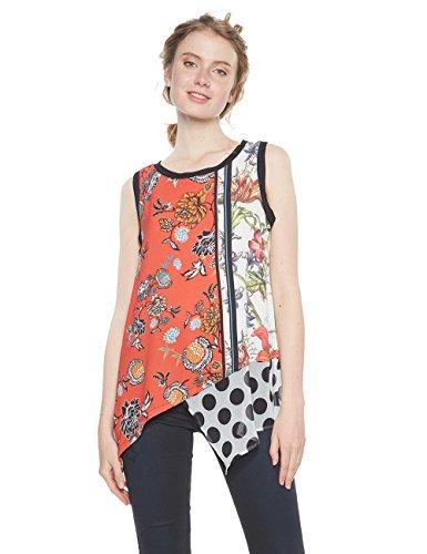 Desigual Damen Arlen Bluse, Rosa (Virtual Pink 3145), Large
