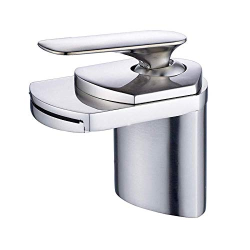 Buy Discount Kitchen Faucet Single Handle Hot and Cold Water Deck Waterfall Mountain Basin Mixer Fau...