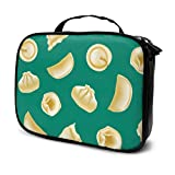 Dumplings Delicate Compact Travel Funny Makeup Bag Cosmetic Bag Girls Kids Beauty Bag Multifunction Printed Pouch For Women