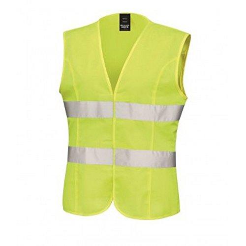Result Core - Chaleco alta visibilidad Modelo Sleeveless Mujer / señora (XS/8/Amarillo fluorescente)