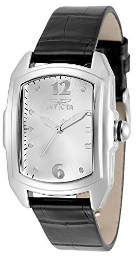 Invicta Lupah Reloj de cuarzo de acero de aleación para mujer con correa de piel, multicolor, 18 (Modelo: 35344)