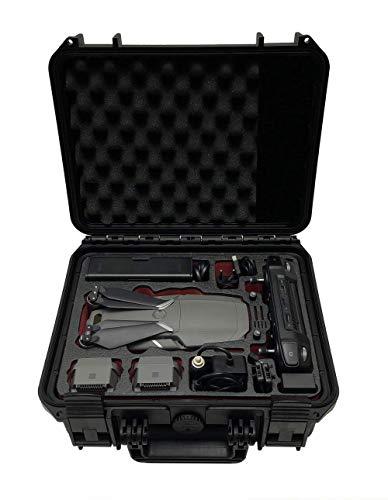 Profi Transportkoffer Travel Edition für DJI Mavic 2 Pro/Zoom mit Platz für Fly More Kit, bis zu 4 Akkus, Standard oder Smart Controller und viel Zubehör | wasserdichter Outdoor Case IP67