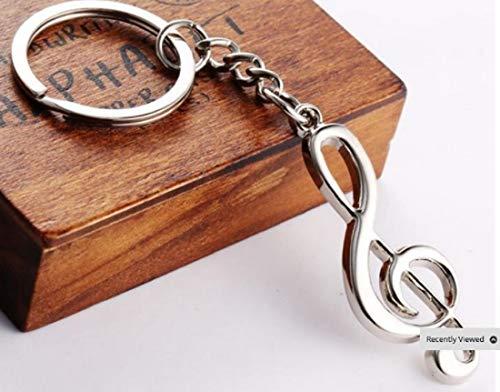 Unbekannt Schlüsselanhänger Musiknote 5cm | Note | Musik | Klavier | Geschenk | Orchester | Frauen