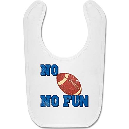 Sport Baby - No Football no Fun Vintage - Unisize - Weiß - american football - BZ12 - Baby Lätzchen Baumwolle