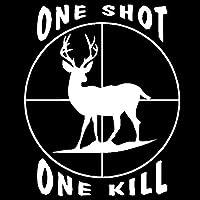 バンパーガラスステッカー 装飾鹿狩りの蛇の目をスタイリングビニールステッカー車のステッカー車を殺すために12.7cmの* 15.4CMブロー (Color : White)