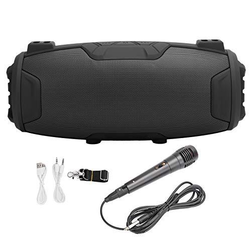 ASHATA Altavoces inalámbricos, Altavoz Bluetooth Subwoofer Sonido estéreo Altavoz Exterior USB con micrófono, Soporte USB/Micro Tarjeta de Memoria(Negro)
