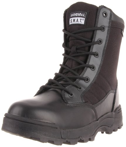 Original S.W.A.T. Men's Classic 9' Waterproof Work Boot,Black,4 M US