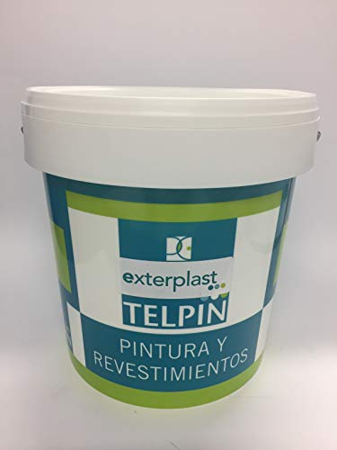 PINTURA PLASTICA SATINADA EXTRA BLANCA INTERIOR-EXTERIOR 4 LITROS + Regalo Mini Rodillo Antigota