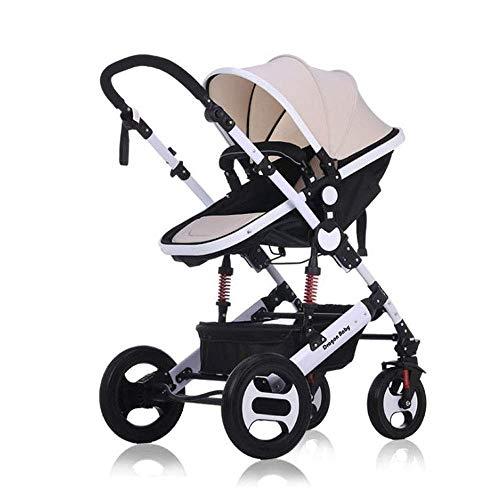 TYZXR Kinderwagen Kinderwagen Kombikinderwagen Reisesystem für Neugeborene bis Kleinkind Baby Jogger für Regenschirm Auto Kinderwagen, D, B