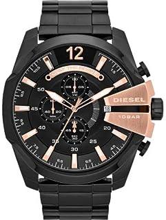 Diesel Men's Black Dial Stainless Steel Band Watch - DI-DZ4309
