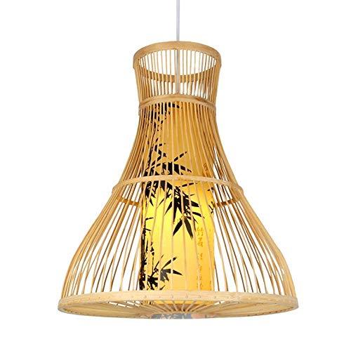 Lámpara de bambú Lámparas de luz retro Lámparas de mimbre Lámparas de araña Lámpara de techo Lámpara de techo de granja Lámpara de techo de mimbre de mimbre ¿Tejido de madera?