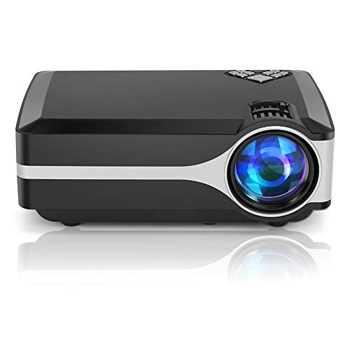 UnlimiTV Mini Projector, Full HD Supported Native 720p Portable Large Image Video Projector with 50,000 Hrs LED Lamp Life Support 1080p, ATV,HDMI, USB, AV, TV Stick, PS4, Laptop