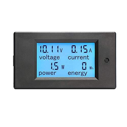 KETOTEK Voltimetro Amperimetro Digital DC 6.5-100V 20A 12V, Medidor de Voltaje Amperaje Potencia Energia Electrica de Panel Voltio Amperio Pantalla LCD