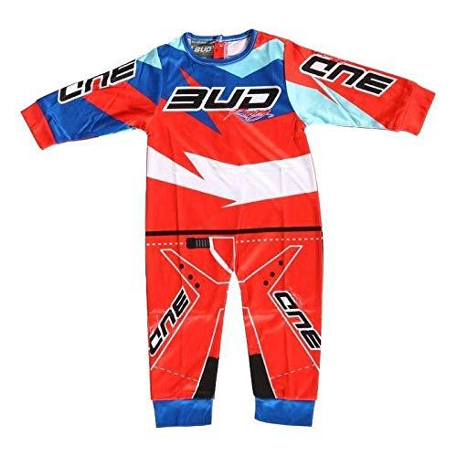 Bud Racing Pijama Body 1 Pieza Motocross Oficial - Rojo - 6/12 Meses