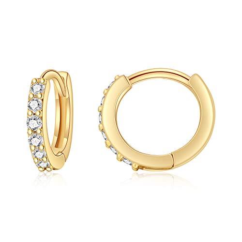 Zirconia Boho Dainty Hoop Earrings by Sannyra