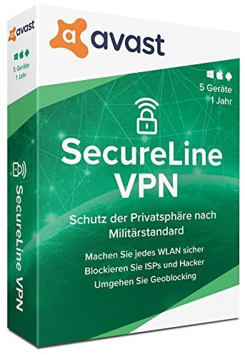 Avast SecureLine VPN - 5 Geräte - 1 Jahr|2020|5 Geräte - 1 Jahr|5 geräte - 1 Jahr|PC,Laptop, Smartphone, MacOS|Download|Download
